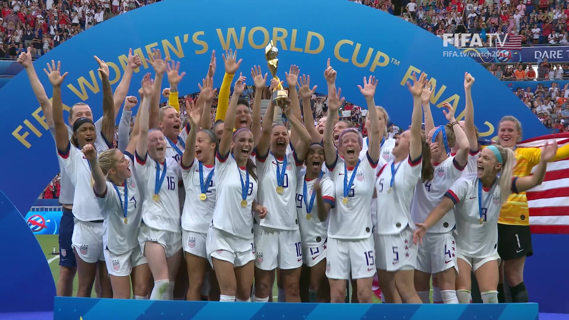 US Women's National Soccer Team Celebrates Second Consecutive World Cup Victory