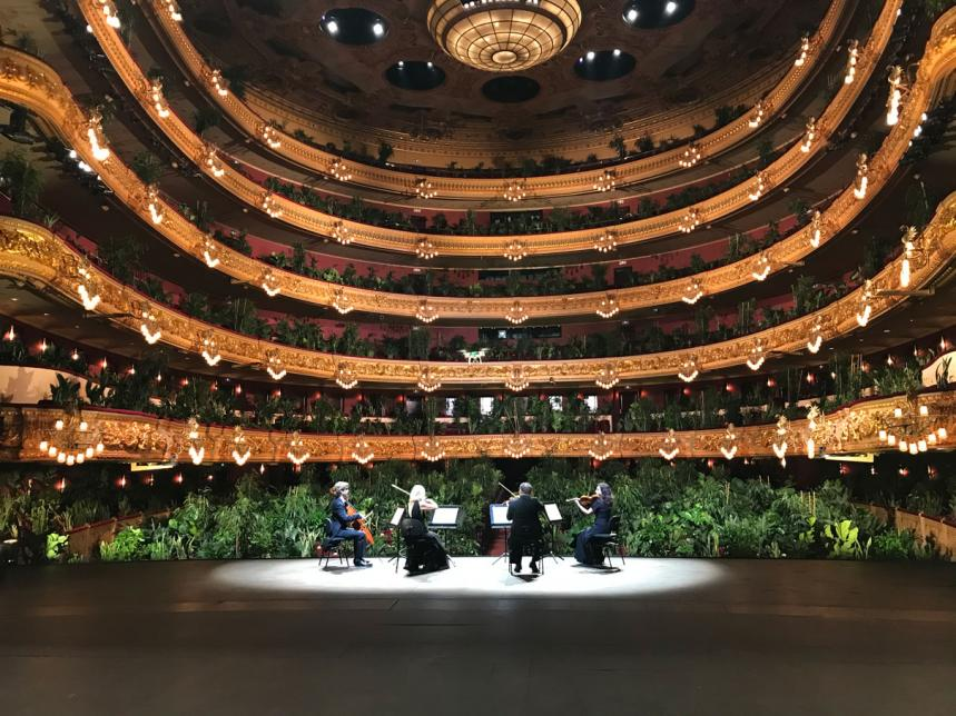 Barcelona Opera House Reopens To A Sold-Out Audience Of Potted Plants!