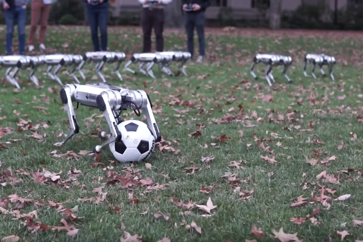MIT's Mini Cheetah Robots Showcase Their Soccer And Gymnastic Skills